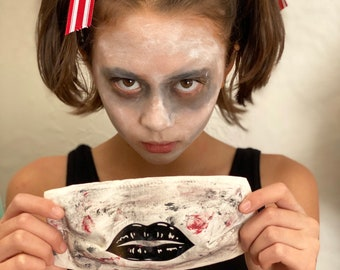 Zombie Face Mask - Adult Face Covering - Kids Cloth Mask