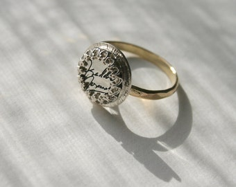Queen Music Band Inspired Ring Freddie Mercury Signature Ring Freddie Mercury Ring Gold Filled Crown Ring