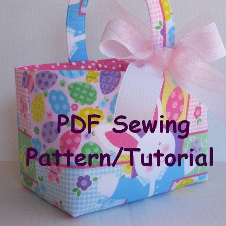PDF Sewing Pattern/Tutorial   Easter Candy Egg Basket  image 0