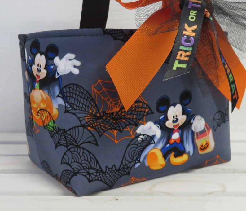Halloween Trick or Treat Candy Bag Basket Bucket  Made w/ image 0