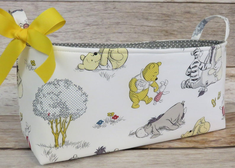Long Diaper Caddy  Storage Container Basket Fabric Organizer image 0