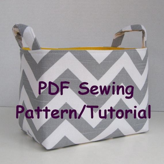 sc 1 st  Etsy & Fabric Storage Organizer Bin PDF Sewing Pattern/Tutorial