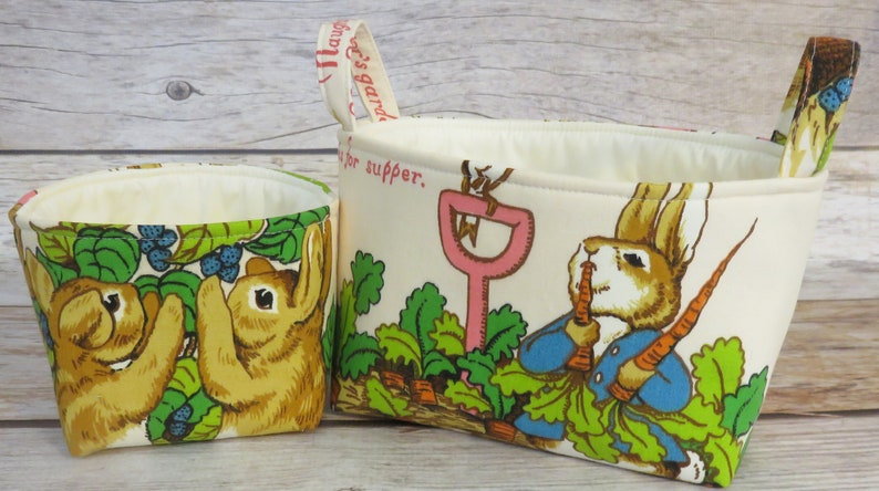 Set of 2  Storage and Organization   Peter Rabbit Vintage image 0