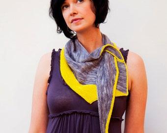 Kitefish Shawlette - hand knitting pattern PDF