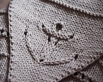 Anchored Wrap - hand knitting pattern PDF nautical anchor sailor accessory