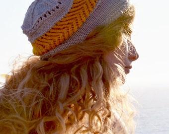 Gitana Hat - hand knitting pattern PDF