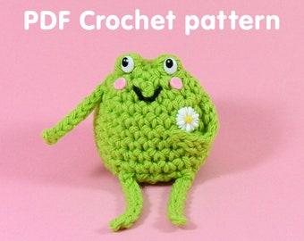 Cute Little Frog - PDF Crochet Pattern - Twinkie Chan - amigurumi toad frog cake forg cake