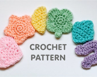 PDF Crochet Pattern - Marshmallow Cereal Charms