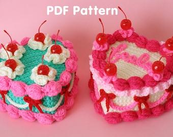 Heart Shaped Cake - PDF Crochet Pattern - Twinkie Chan - Valentine amigurumi