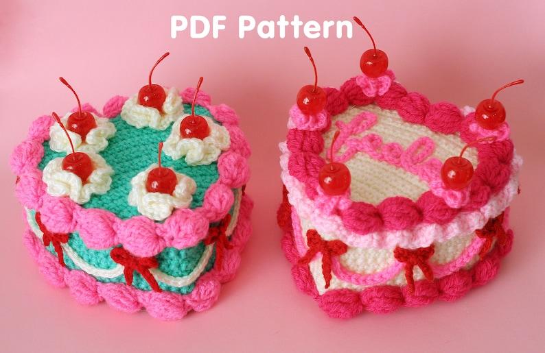 Heart Shaped Cake  PDF Crochet Pattern  Twinkie Chan  image 0
