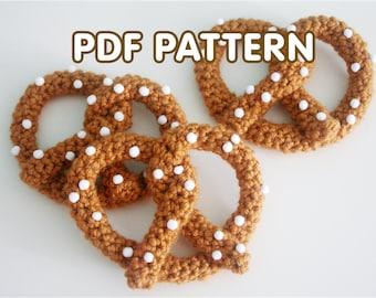 Pretzel Brooch - PDF Crochet Pattern - Twinkie Chan - amigurumi play food