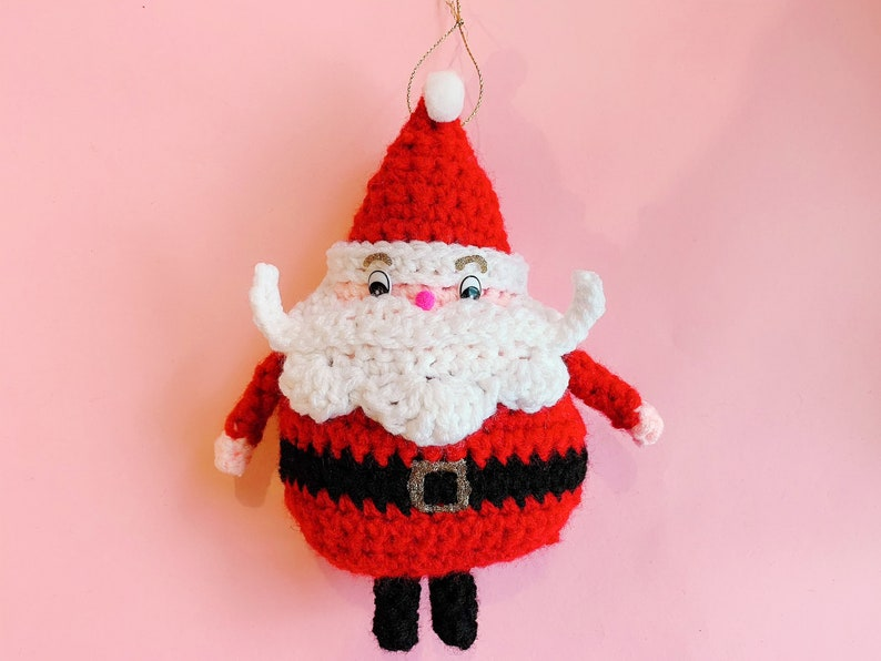 Little Santa Claus Ornament  PDF Crochet Pattern image 0