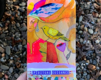 Spiritual Guidance - Hand Painted Wooden Oracle Card