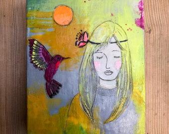 Love Medicine Original Encaustic Painting