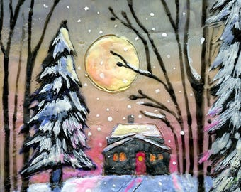 Let it Snow - Art Block