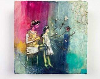 Small Kindnesses Original Encaustic Painting