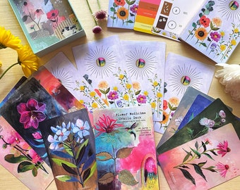 NEW! Flower Medicine Oracle Deck - Luxe Gift Set