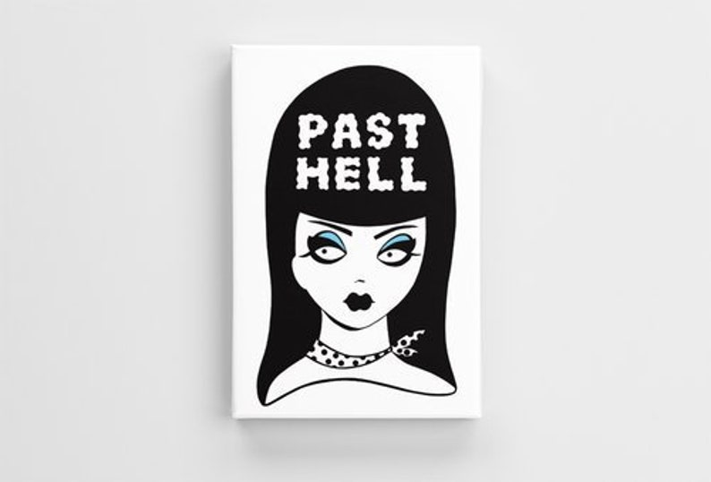 Past Hell Print on Canvas image 0