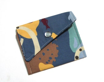 Card Case - Money Pouch - Jewerly Pouch - Snap Case - The Deep Blue Sea