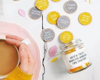 Personalised Friendship Date Ideas Jar - Personalised Gift For Friends - Birthday Gift - Gift For My Bestie - Best Friend Dates Jar