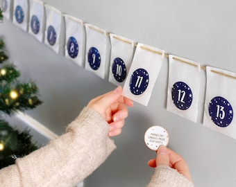 Personalised A Date A Day Couples Advent Calendar, Date Night At Home, Christmas Countdown