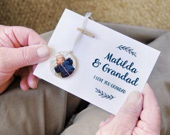 GRANDAD And Me Personalised PHOTOGRAPH Keepsake CARD Grandad Keepsake Card Decoration For Gramps Gift For Grandpa Fathers Day Grandpa Gift