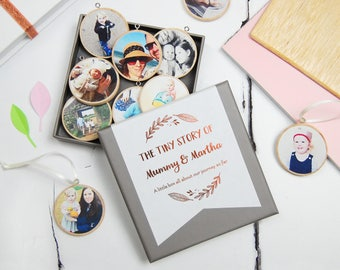 PERSONALISED MUMMY And ME Photograph Wooden Keepsakes Mother's Day Decoration Gift Box New Baby Personalized Baubles Mommy And Baby Keepsake