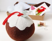 Make Your Own CHRISTMAS PUDDING DECORATION Craft Kit Children's Sewing Kit Creative Activity Christmas Toy Pudding Lover Stocking Filler