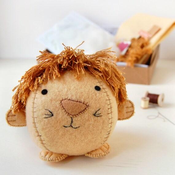 Löwe-BASTELSET machen Ihre eigenen Kinder Nähen Kit kreative   Etsy