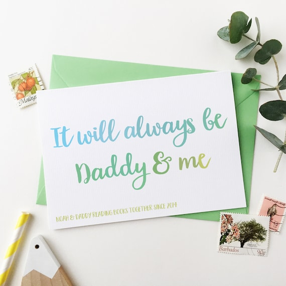 Personalised DADDY AND ME Birthday Card New Baby For Papa