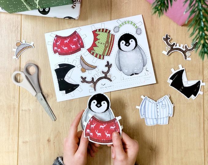 Penguin Dress Up Greeting Card