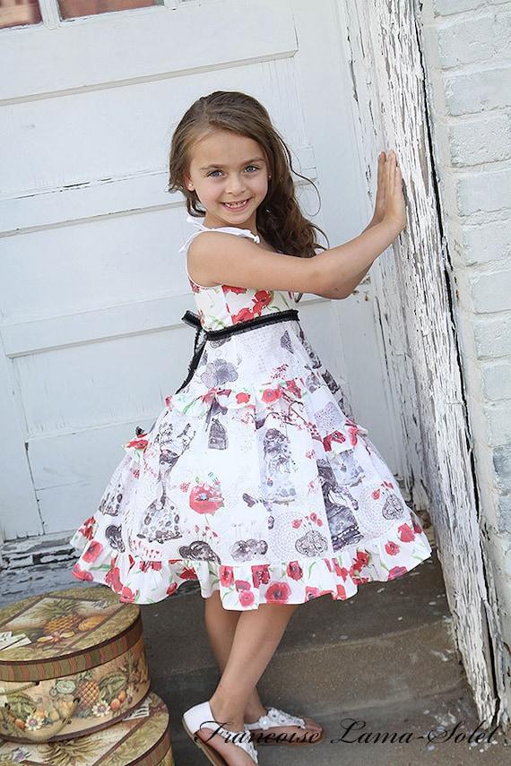 Size 5 white red black formal dress flower girl dress tea etsy image 0 mightylinksfo
