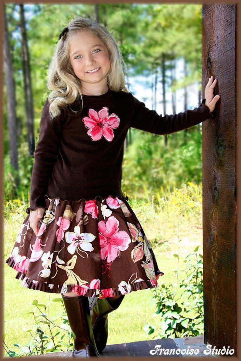 39abb40bf10 Girls outfit fall winter set twirl skirt long sleeve