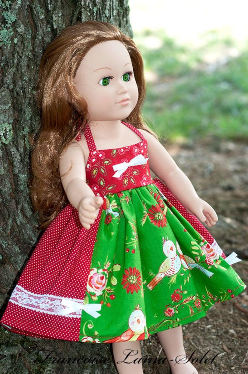 c7790c0c8c2c 18 inch doll Christmas dress girl doll dress red green white   Etsy