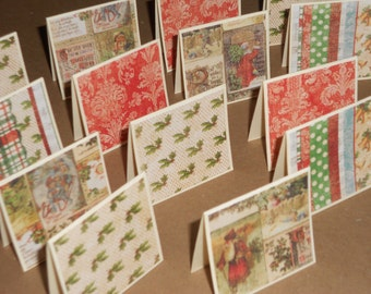 Father Christmas  Note Cards / Gift Tags / Place Cards Set Of 20