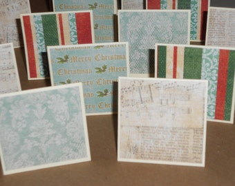 Christmas Blues  Note Cards / Gift Tags / Place Cards Set Of 20