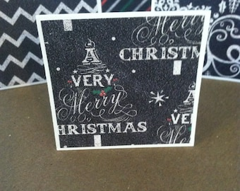 A Very Merry Christmas Note Cards / Gift Tags / Place Cards Set Of 20