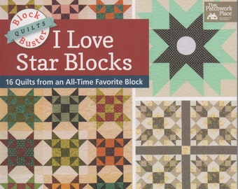 Free Shipping***Block-Buster Quilts - I Love Star Blocks: 16 Quilts from an All-Time Favorite Block-Paperback