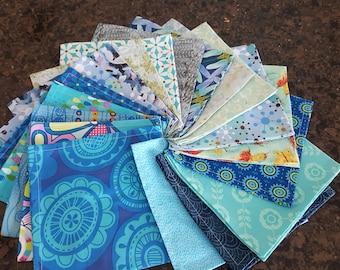 Bulk NAPKINS, Assortment, Blue Assortment, Go Paperless, Eco Friendly, By Makers Studio65, 15x15, FREE SHIPPING