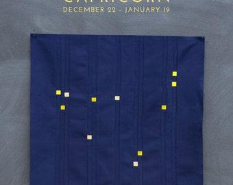 Capricorn Constellation Block PDF pattern - Quilting Patchwork