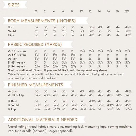 Patrón de costura PDF fen   Etsy