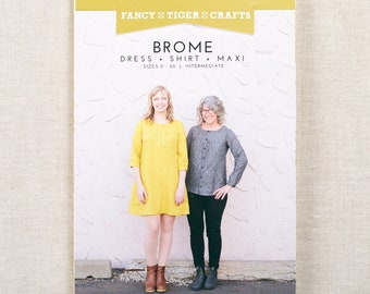 Brome Dress & Top Printed Sewing Pattern Fancy Tiger