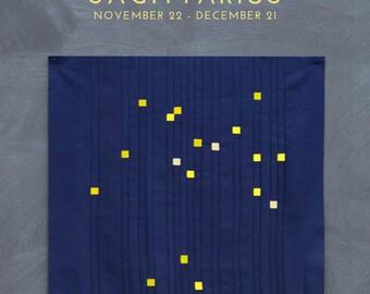 Sagittarius Constellation Block PDF pattern - Quilting Patchwork