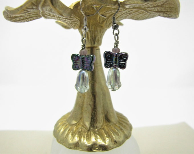 Butterfly Fairy Earrings Pierced Dangle Earrings