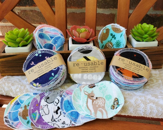 Reusable Cotton Facial Rounds | Cloth Napkins | Cloth Wipes | Cloth Towels | from mamamade