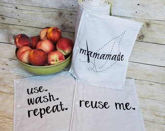 UnPaper Reusable Snapping Cloth Towels - Use, Wash, Repeat  and Reuse Me - Zero Waste Cloth Napkin - Housewarming, Wedding, Anniversary Gift