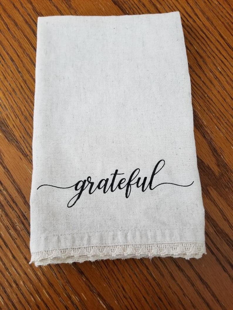 Thanksgiving Napkins Set4 Grateful Cloth Napkin Fabric Napkin Thanksgiving Place Setting Natural Cotton Linen