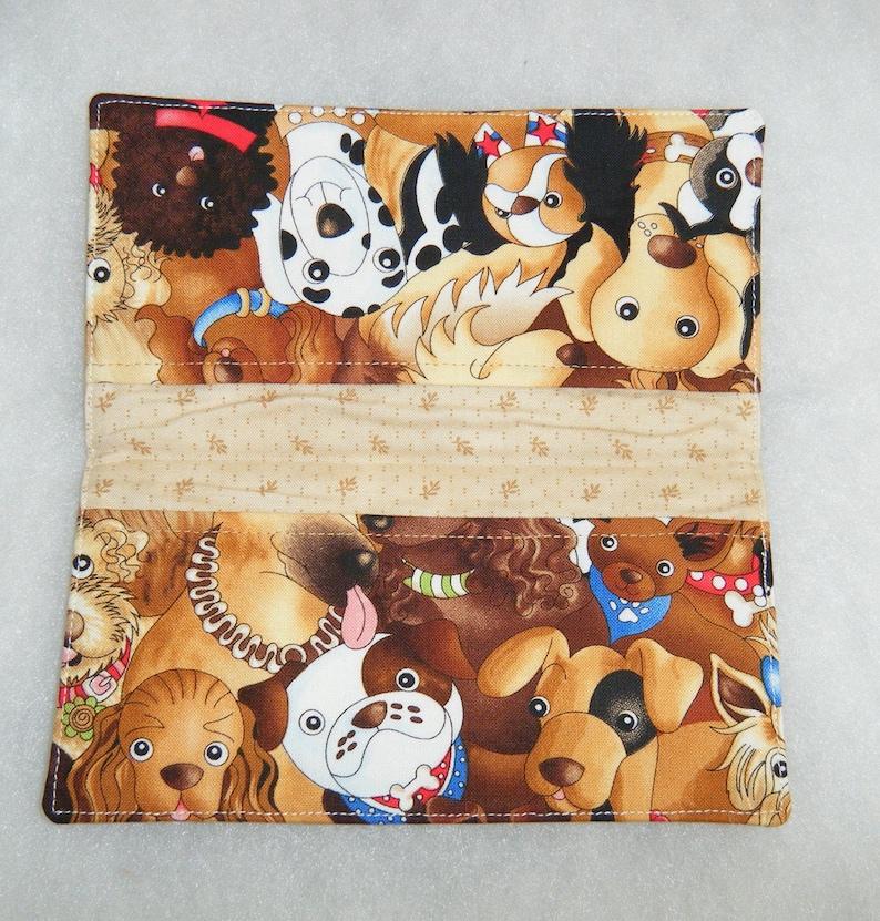 Happy Dogs Checkbook Cover