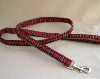 Red tartan Plaid - Dog Leash