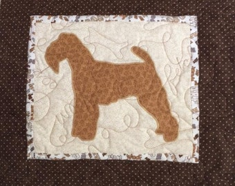 Welsh Terrier - Quilted Dog throw pillow 16 inches